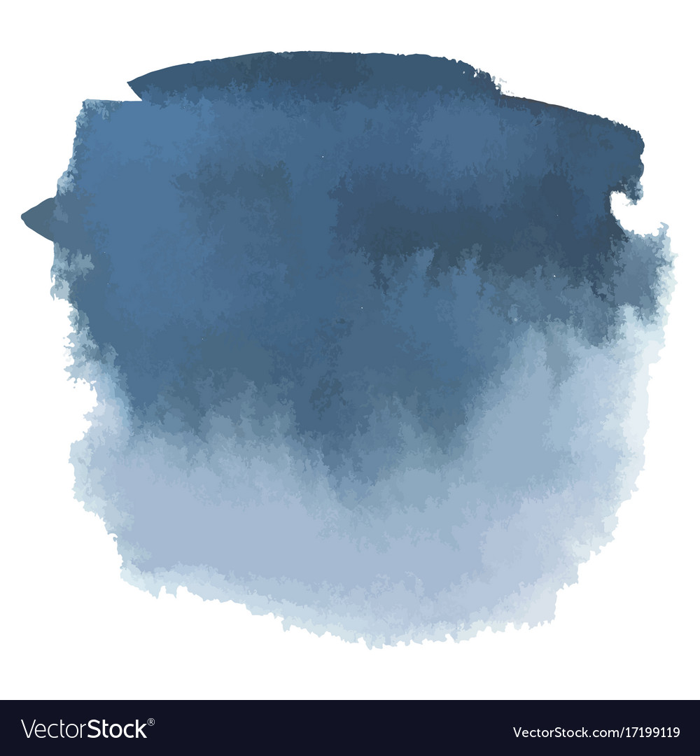 Blue gray watercolor hand drawn gradient banner