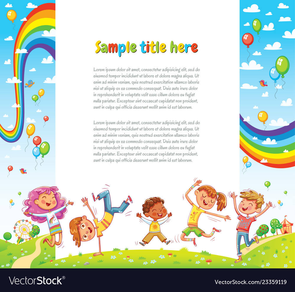 Kids party for web page design