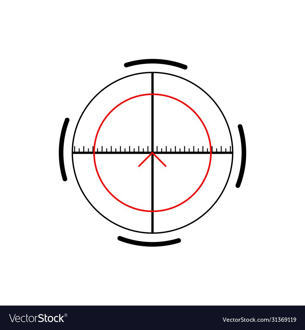 Military crosshair rifle sight icon on white