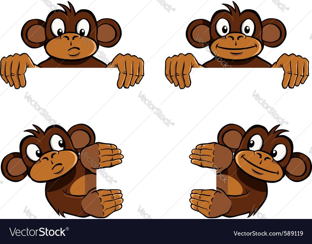 Monkey frame decoration vector image