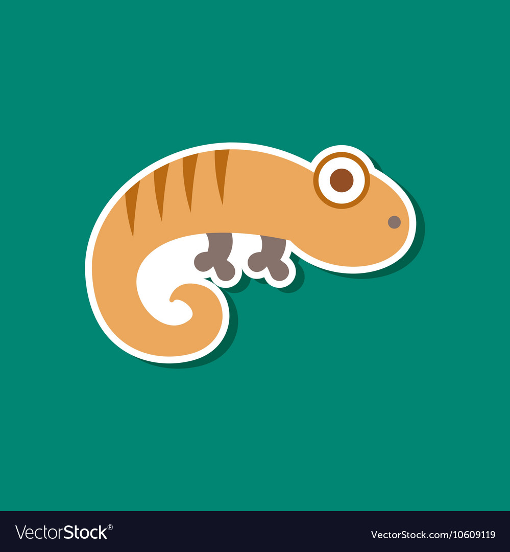 lizard line icon sign on
