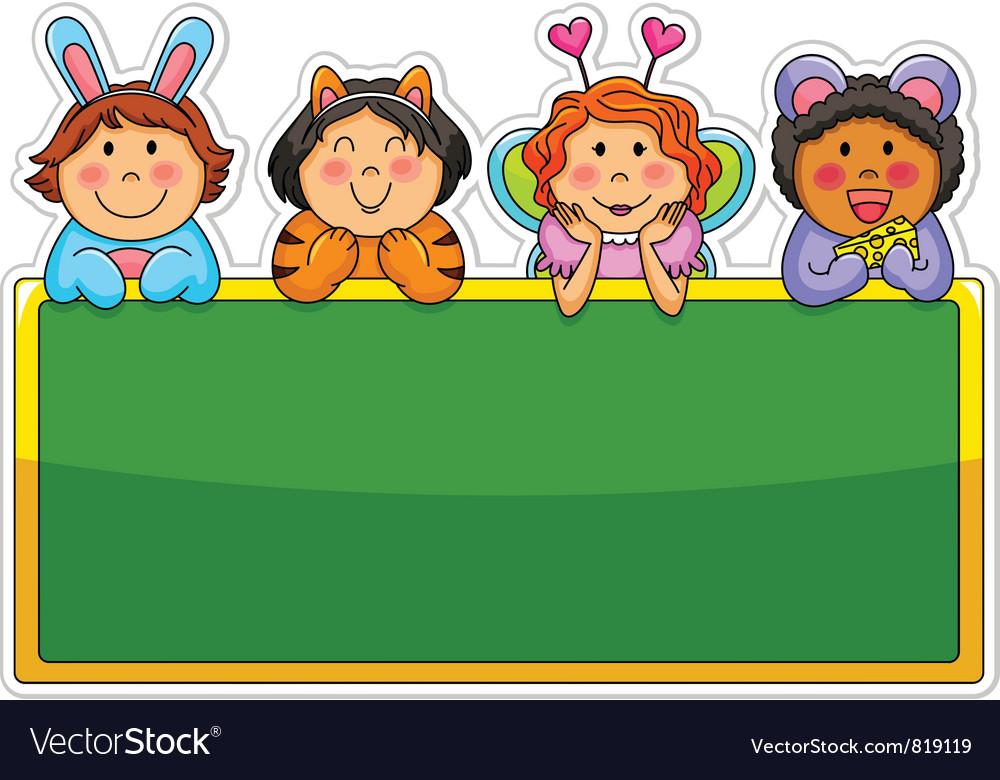 Playful kids vector image