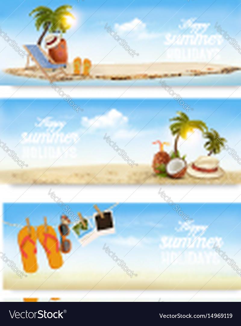 Tropical island with palms a beach chair and a