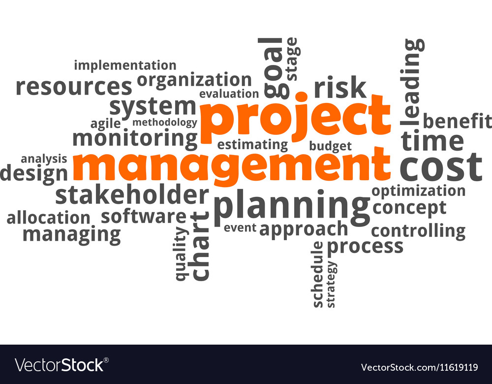 Word Cloud Project Management Royalty Free Vector Image
