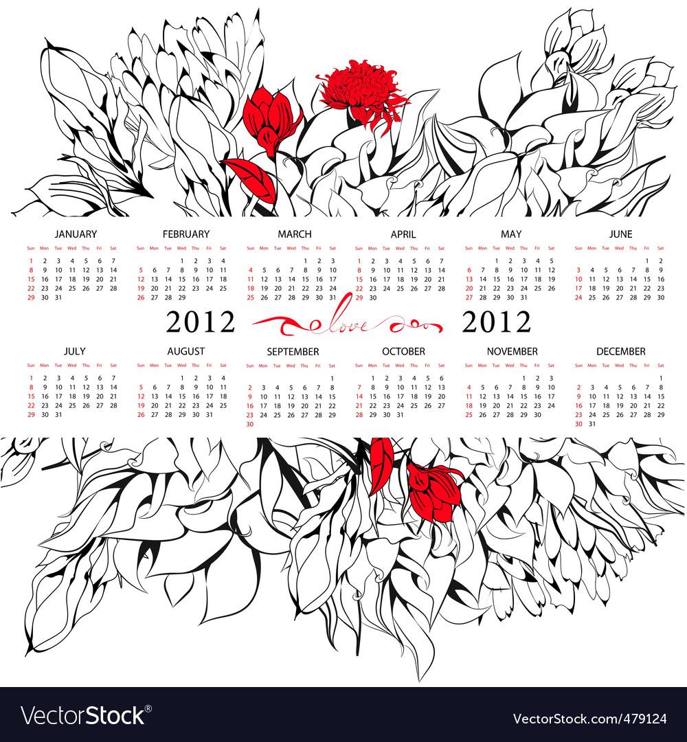 yearly calendar 2012 printable. Free Printable 2012 Calendar