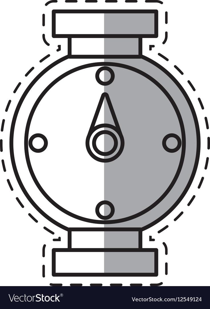 Compass location gps travel shadow vector image