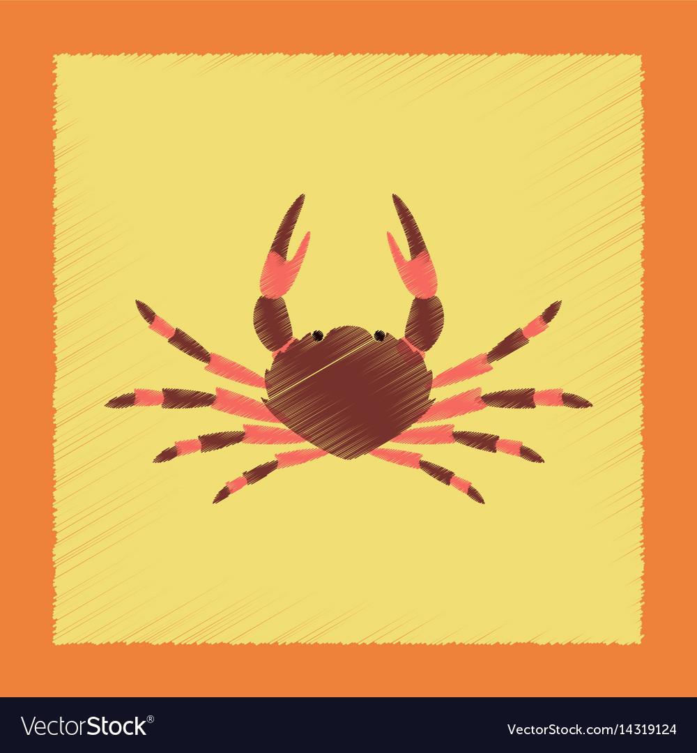 Flat shading style animal crab