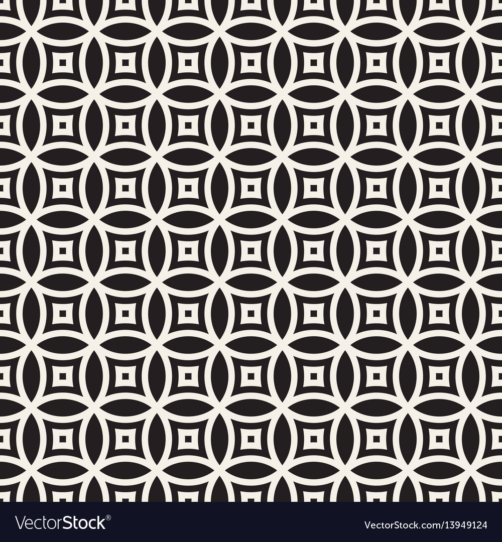 Seamless geometric rounded lines pattern