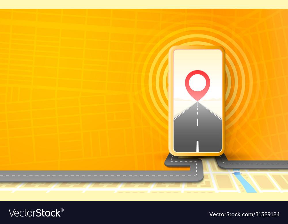 Smartphone navigator app mobile location road map