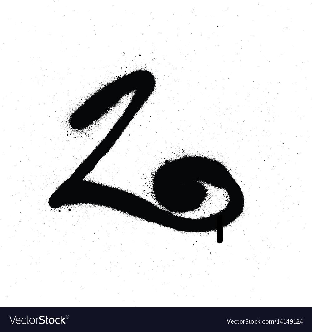 L graffiti font alphabet vector images 46