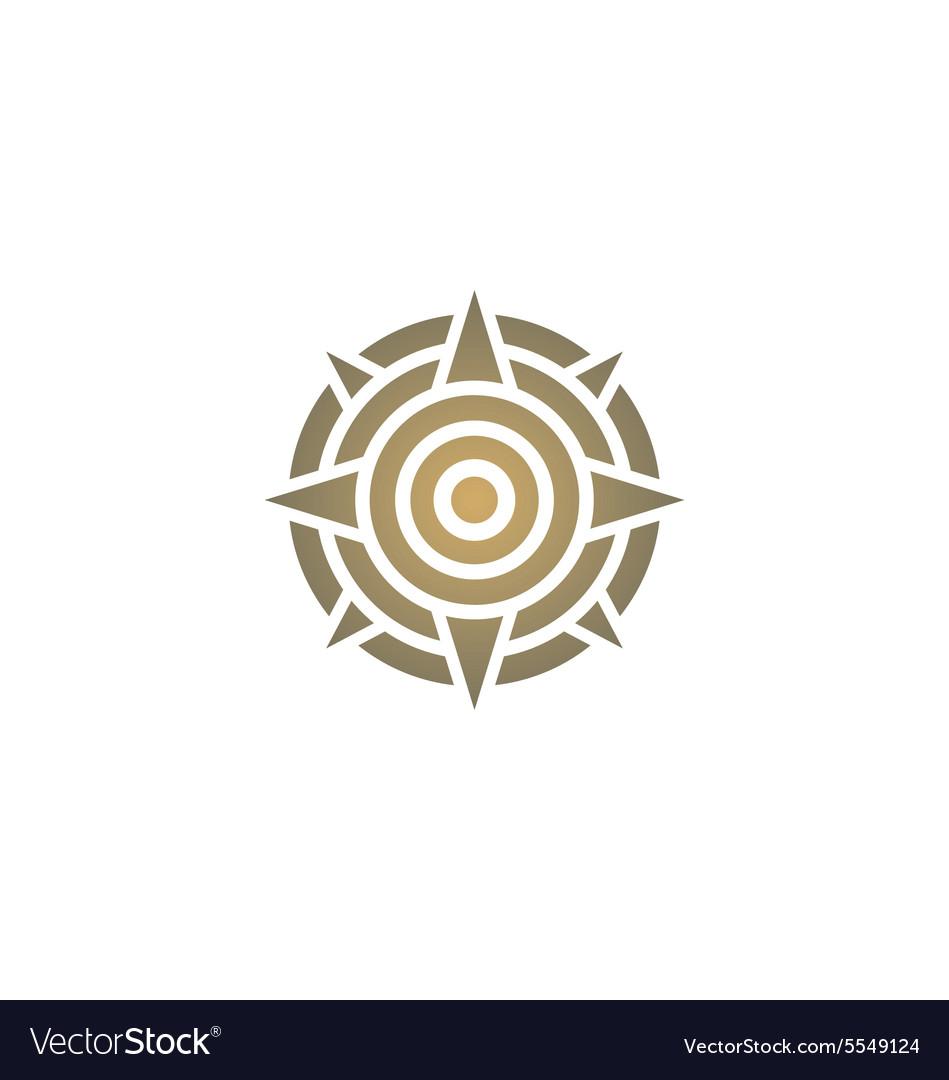 Star round target direction decoration logo vector image