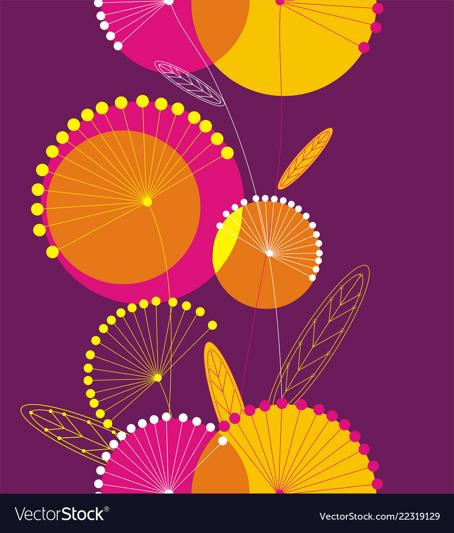 Dandelions flowers seamless pattern
