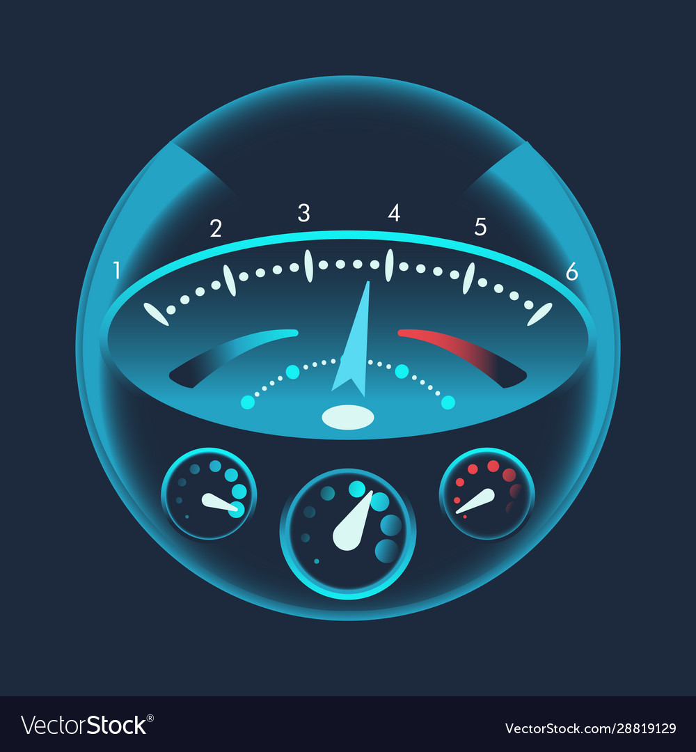 Isolated speedometers for dashboard device for