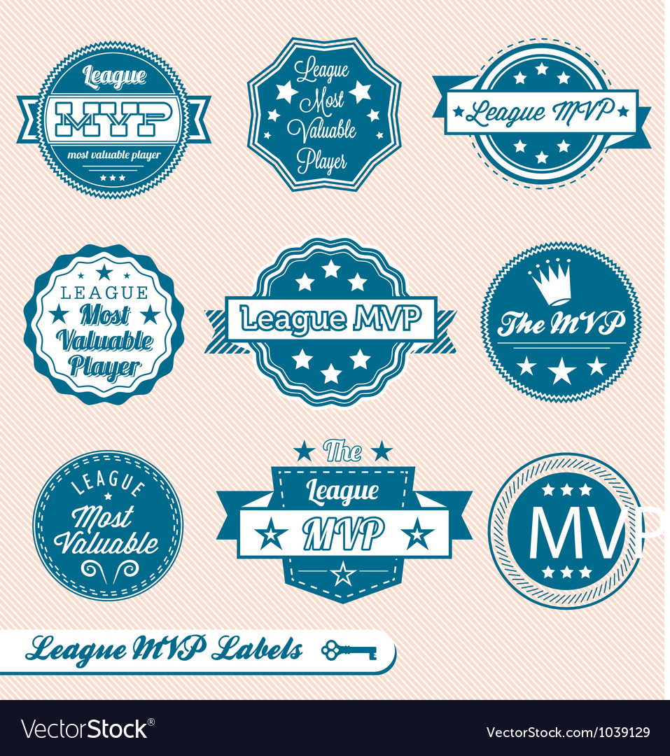 League MVP Labels and Icons