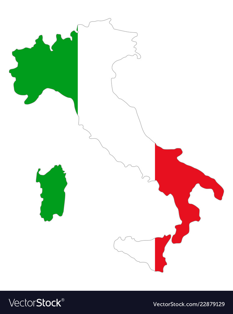 Pdf Map Of Italy.Map And Flag Of Italy