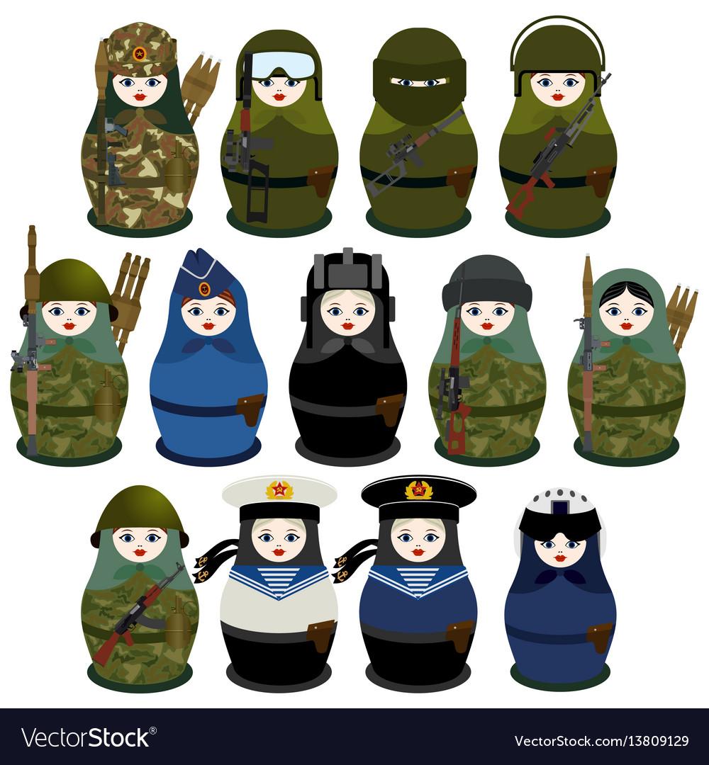 Matryoshka soldiers