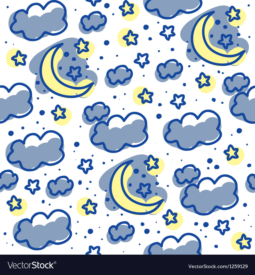 Moons and clouds vector image
