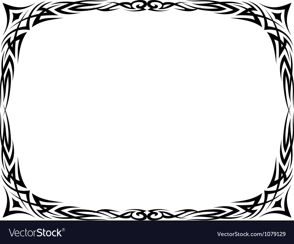 Tattoo ornamental decorative frame Royalty Free Vector Image