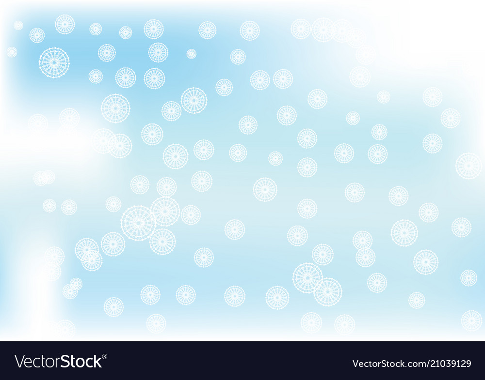 Winter with falling snowflakes on blue clouds sky vector image