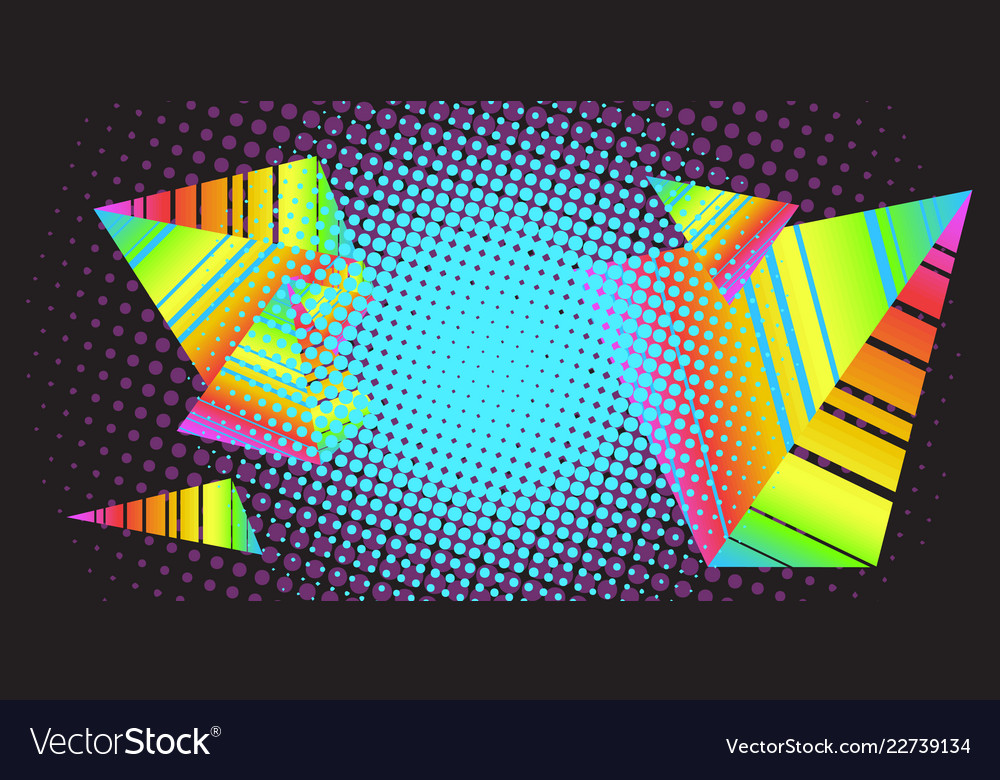 Background triangles 80s