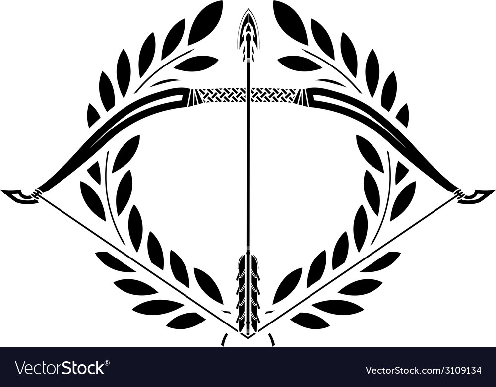 Bow and laurel wreath