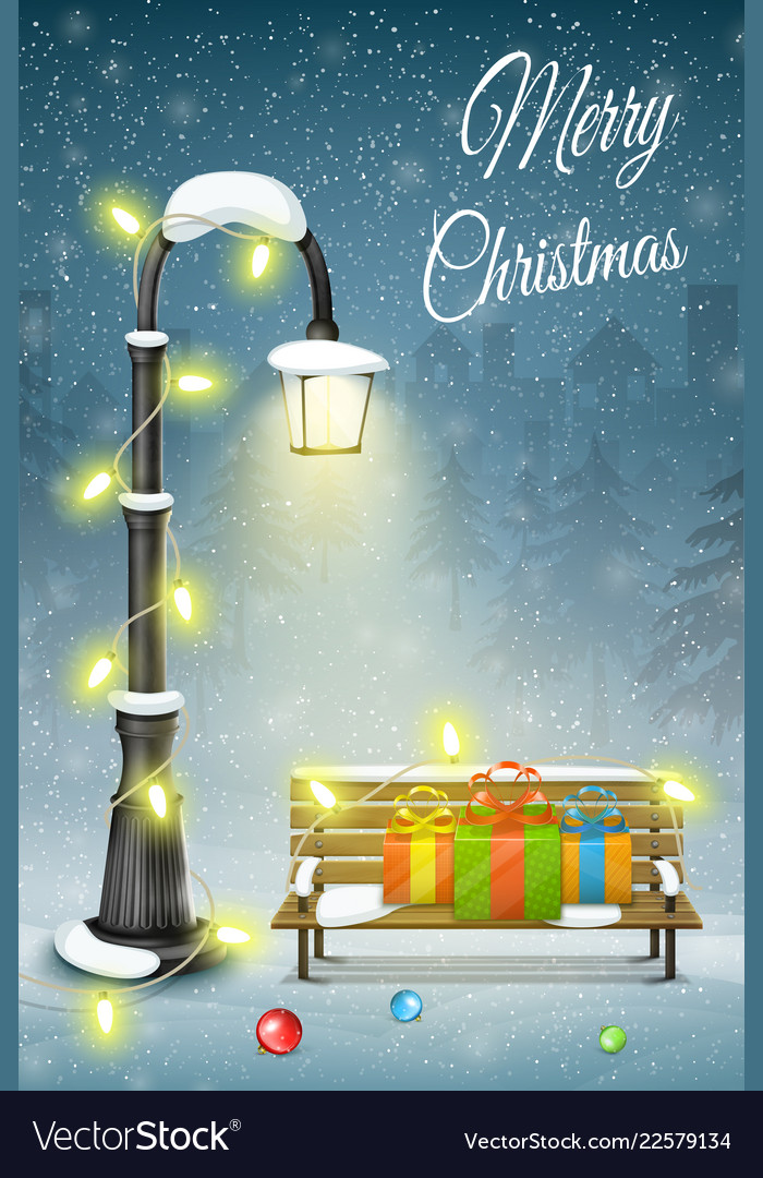 Christmas and new year typography greetings on