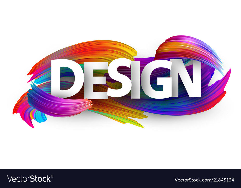 Design paper poster with colorful brush strokes