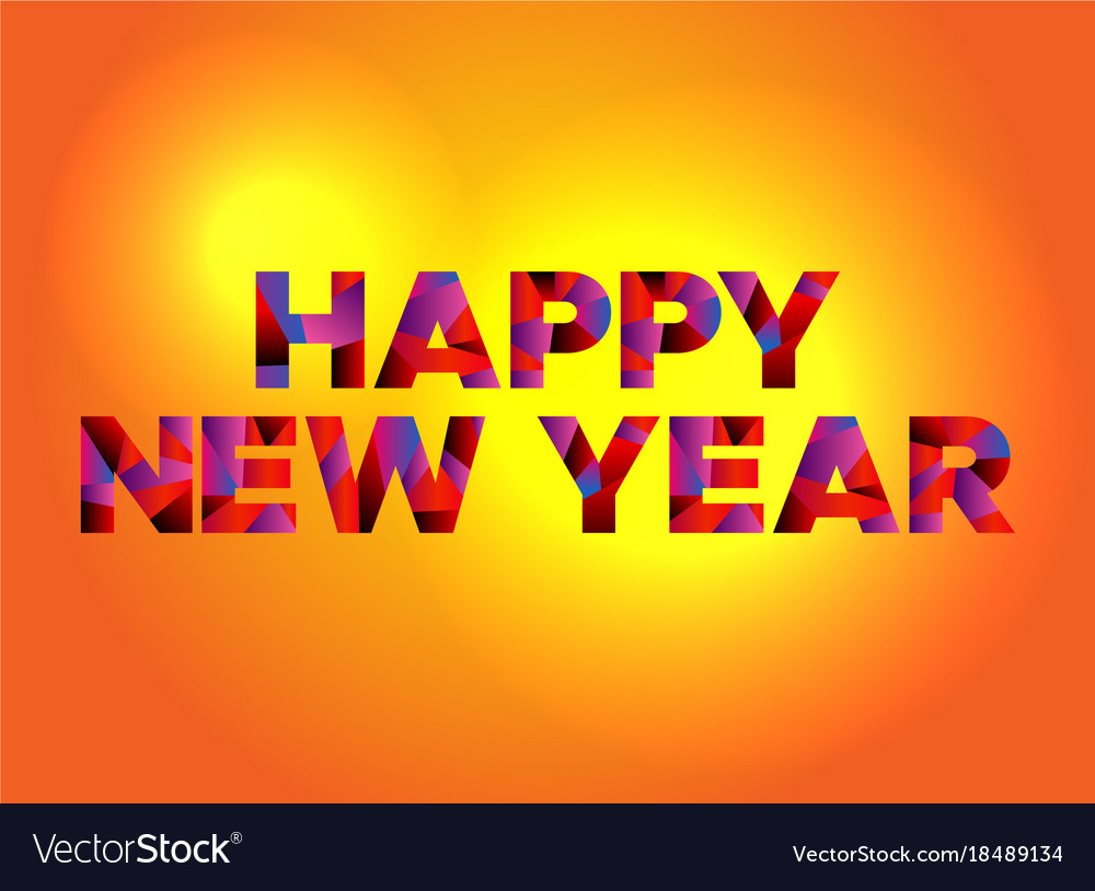 happy new year theme word art vector image