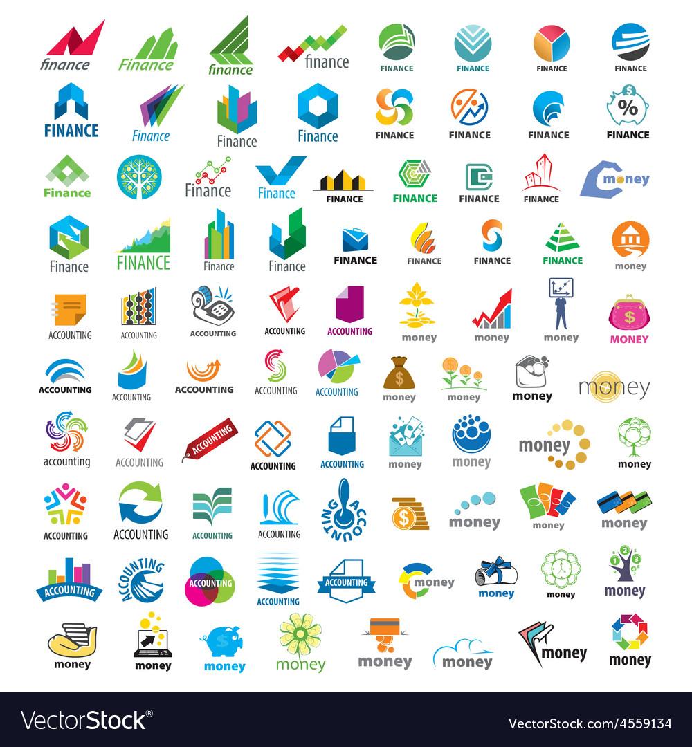 Large set of logos Finance