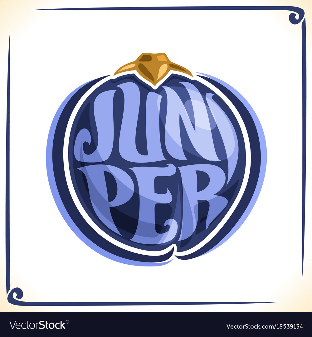 Logo For Juniper Royalty Free Vector Image Vectorstock