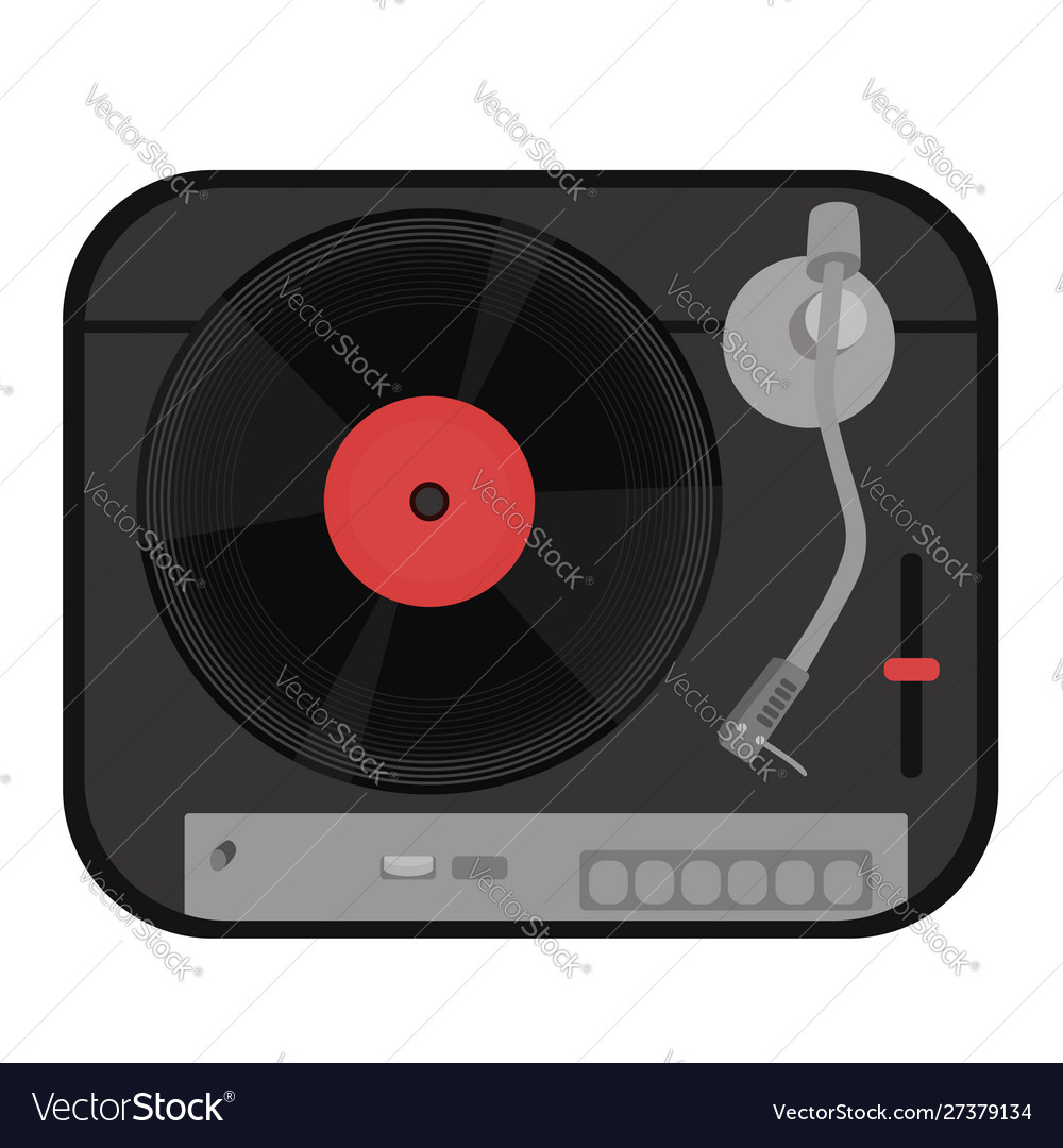 Turntable isolated on white background graphics