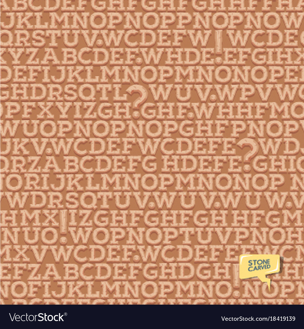 Ancient latin alphabet letters pattern seamless