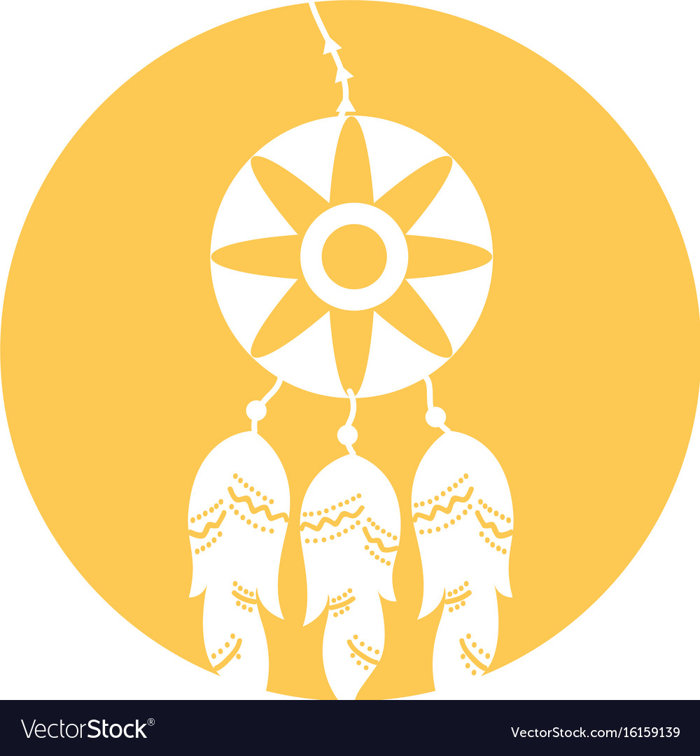 Boho style dream catcher vector image