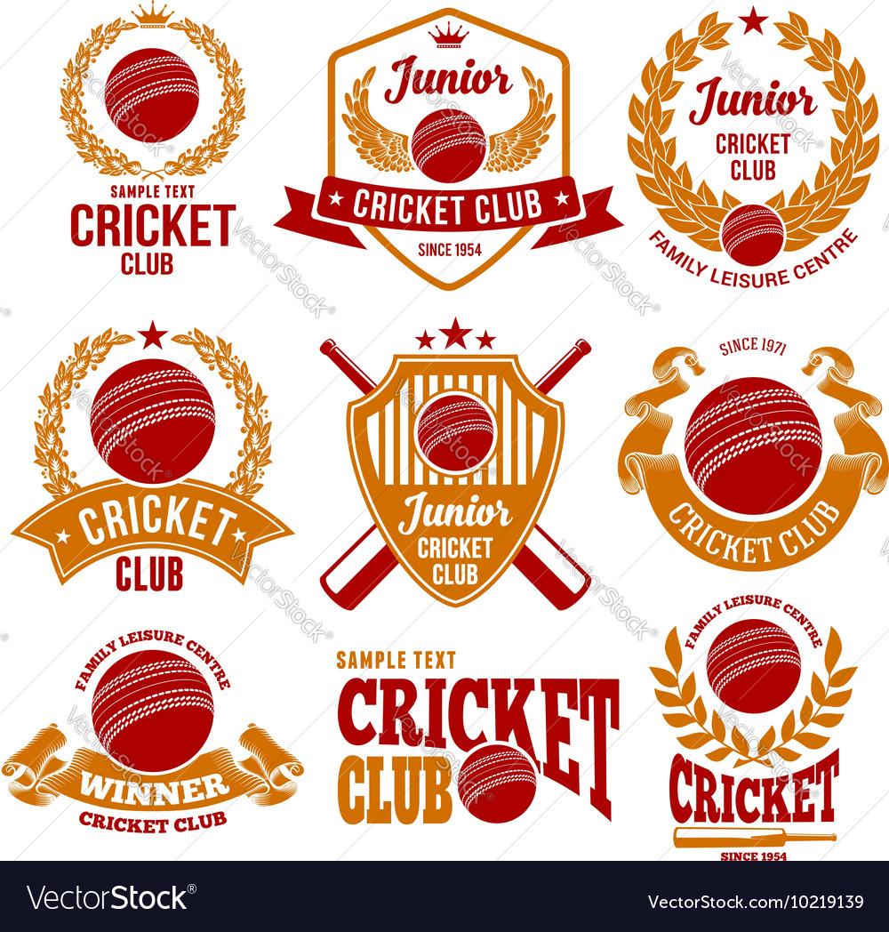 Cricket logo set