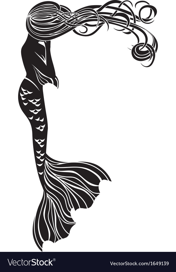 Crying mermaid stencil for stickers