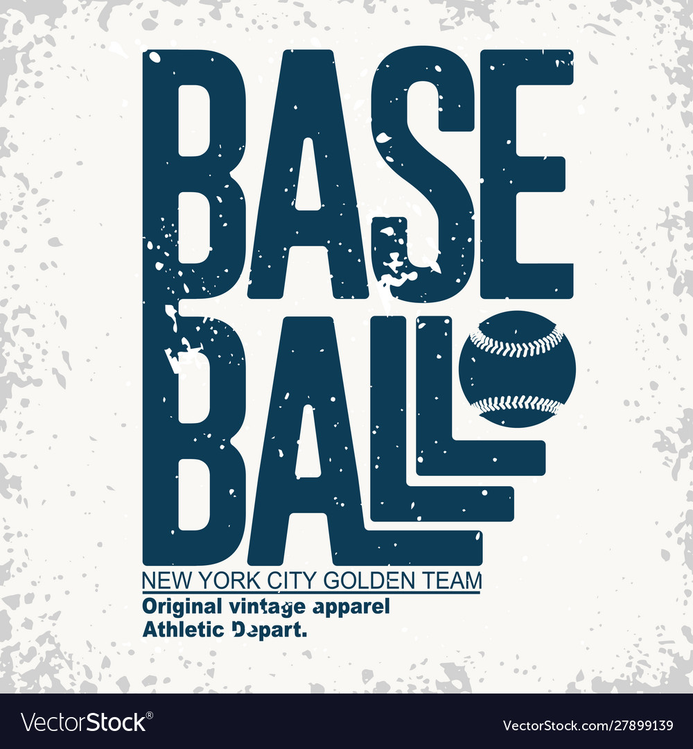 New york sport t-shirt typography baseball print