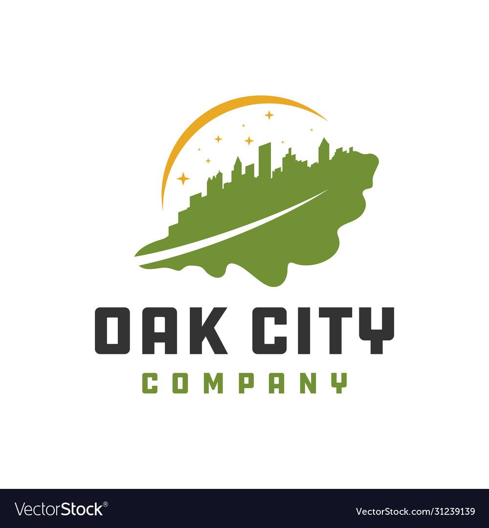 Oak leaf city logo