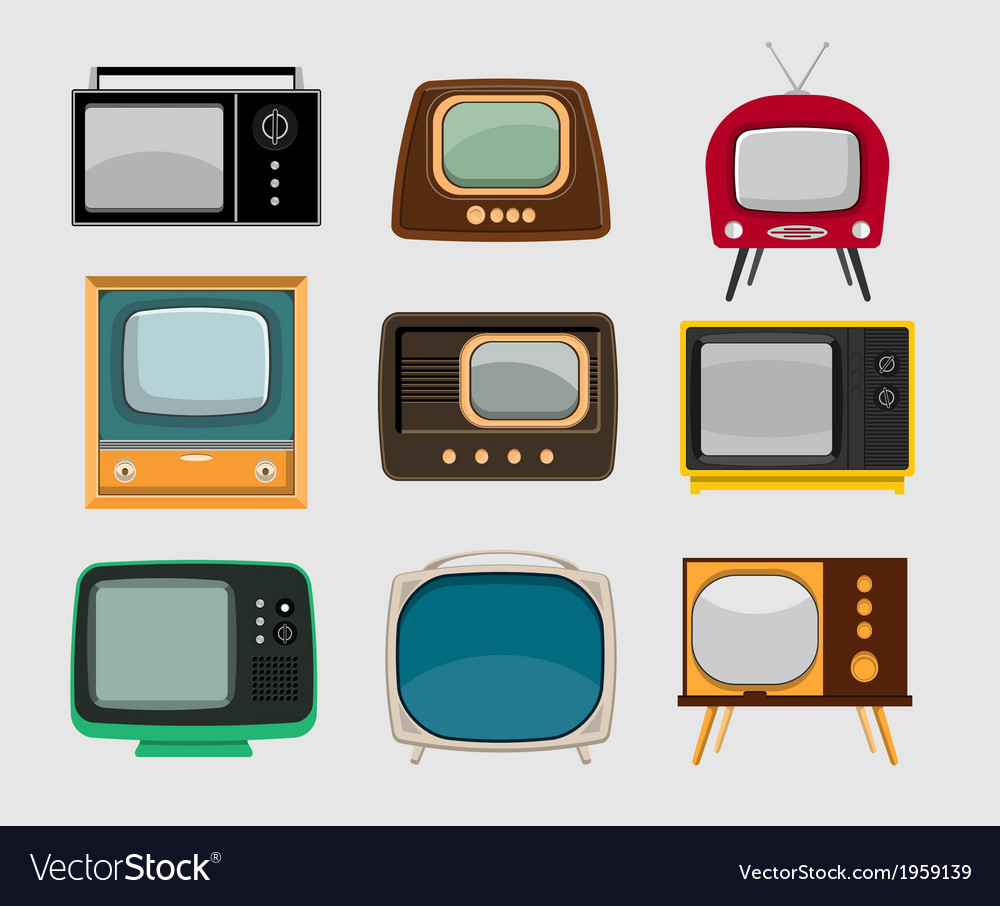 Set of vintage tvs
