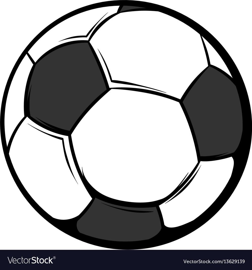 Soccer ball icon cartoon
