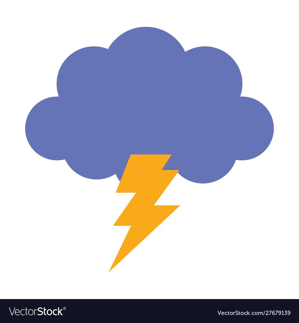 Storm cloud thunderbolt weather design icon