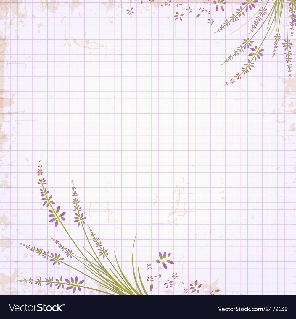 Vintage Notepad Notebook vector image