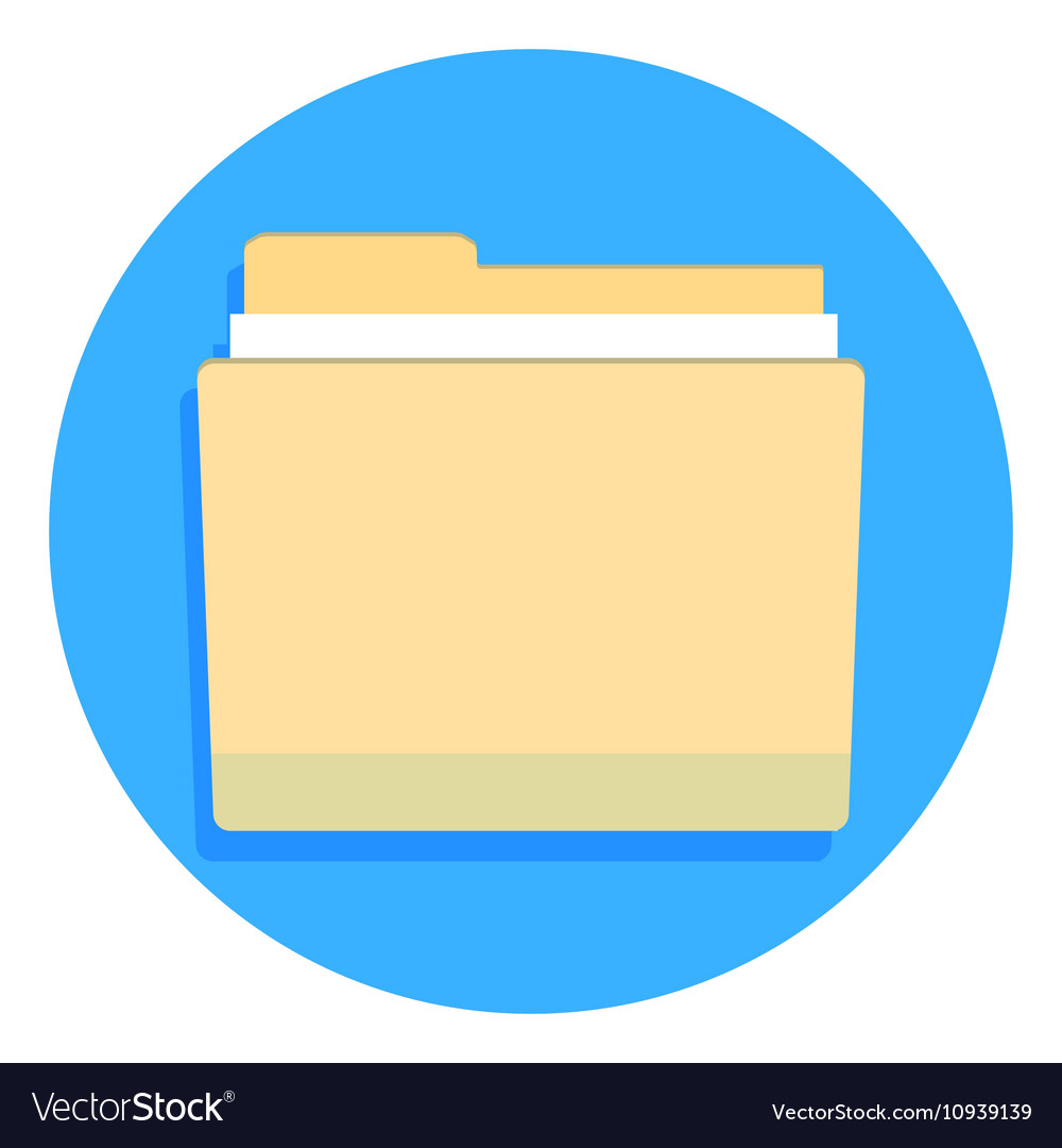 Yellow folder for documents