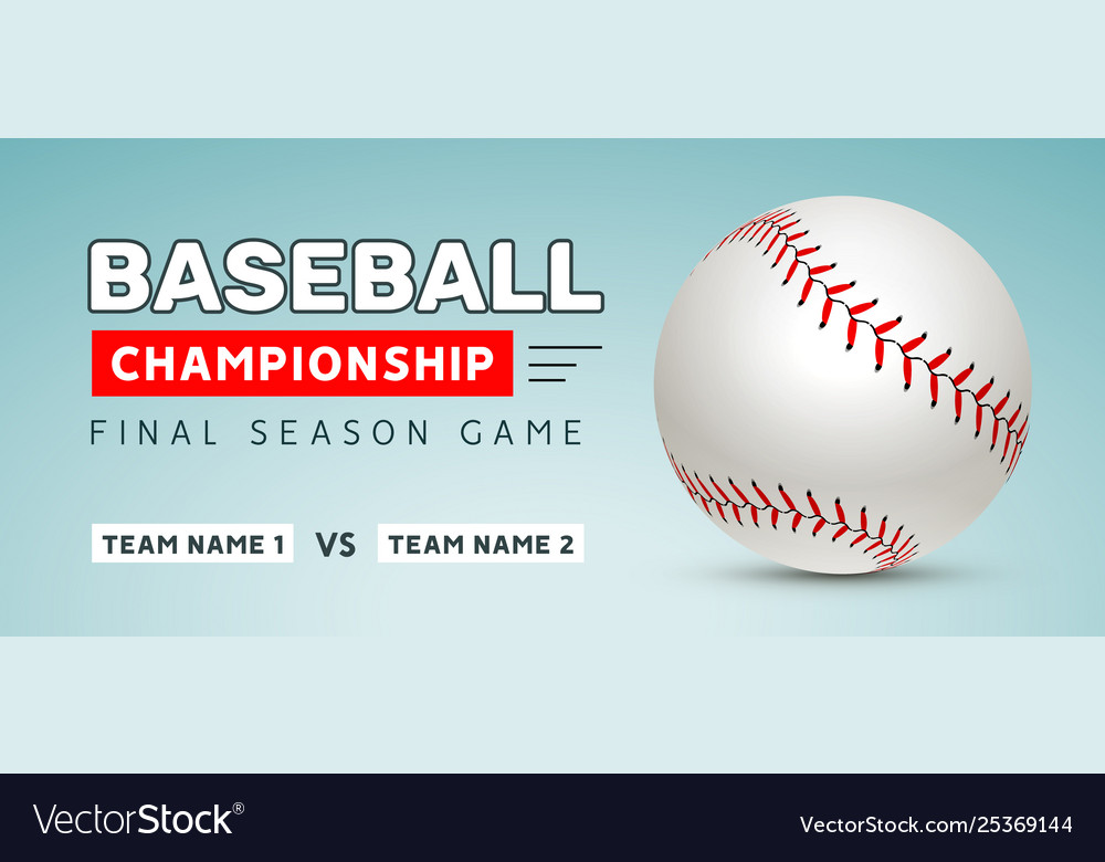 Baseball flyer poster template tournament