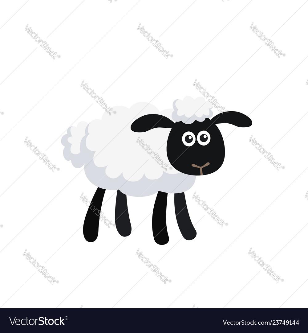 Cartoon sheep isolated on white background