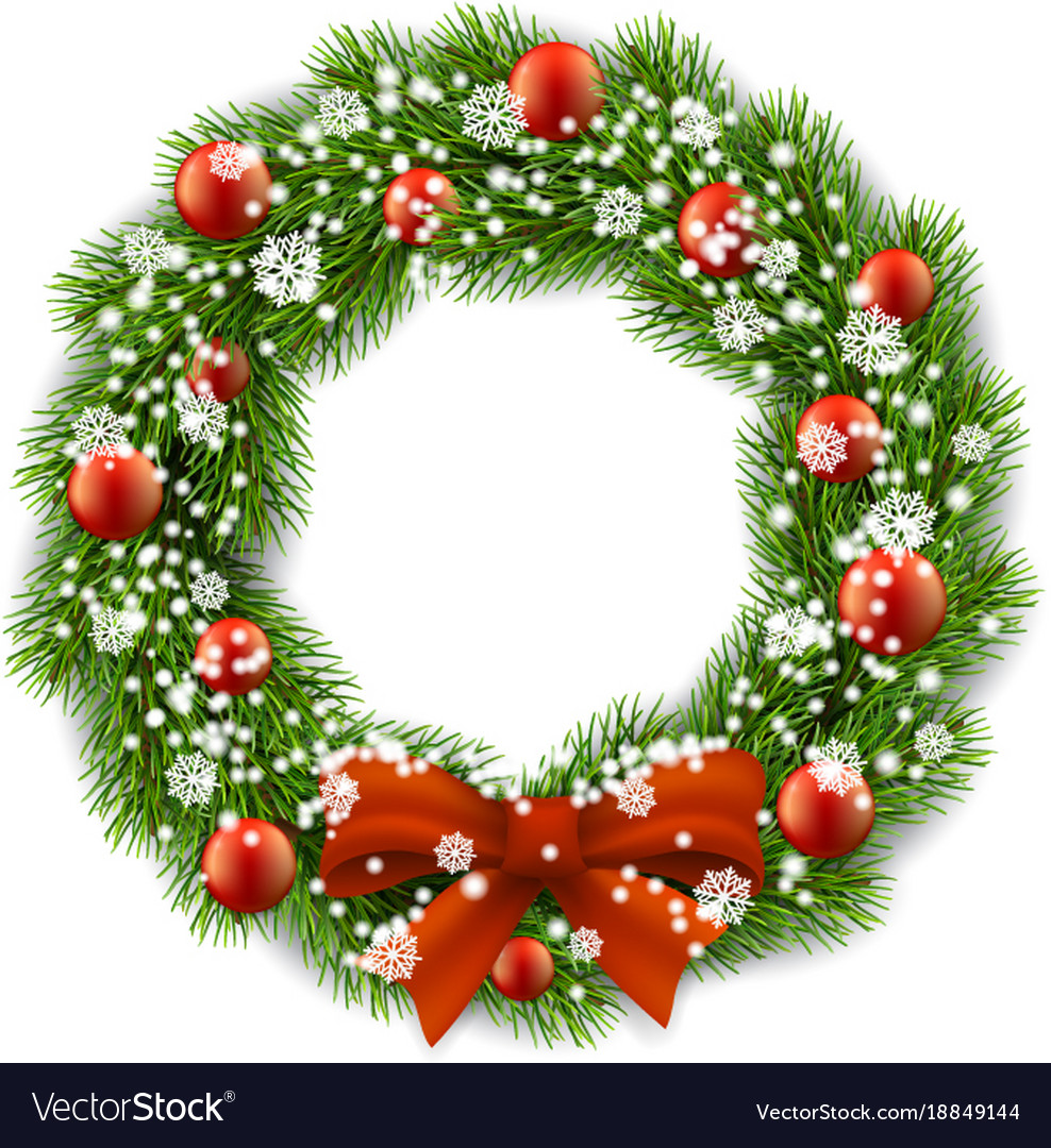 Christmas Wreath Images Free.Christmas Wreath Decorated Balls