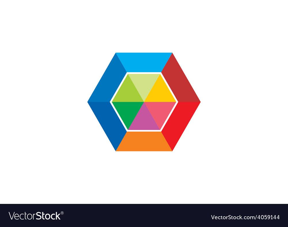 Colorful polygon abstract logo