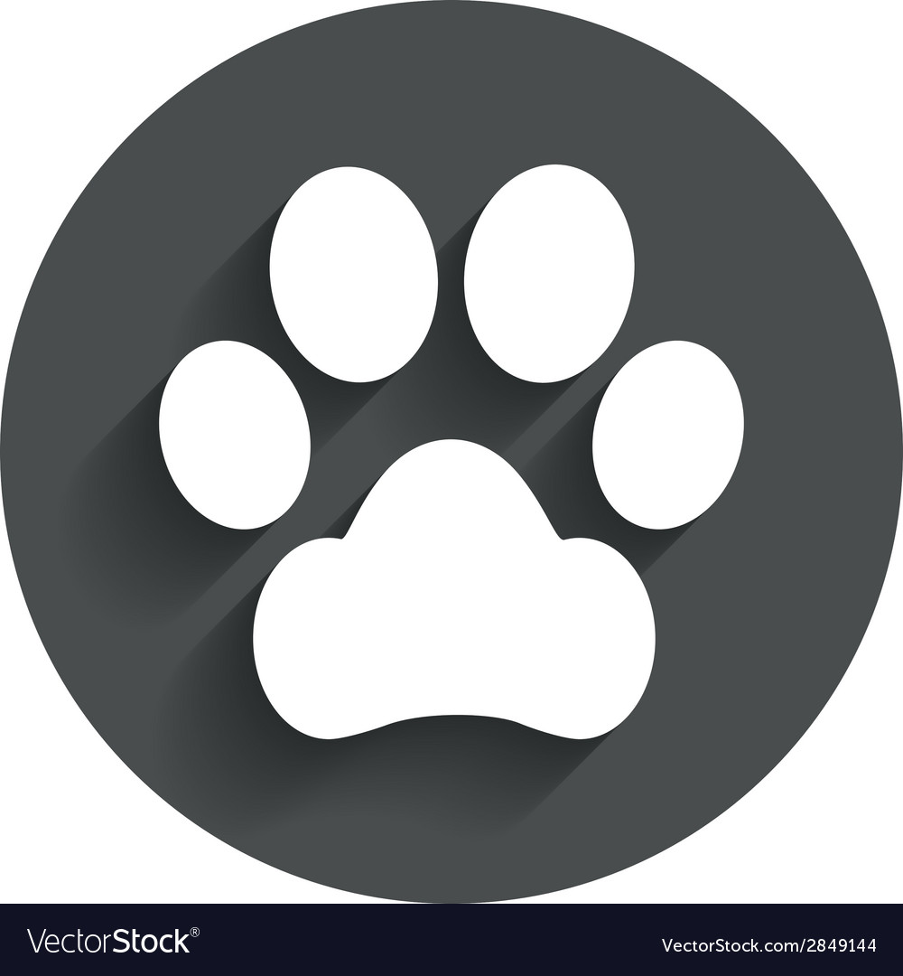 dog paw sign icon pets symbol royalty free vector image