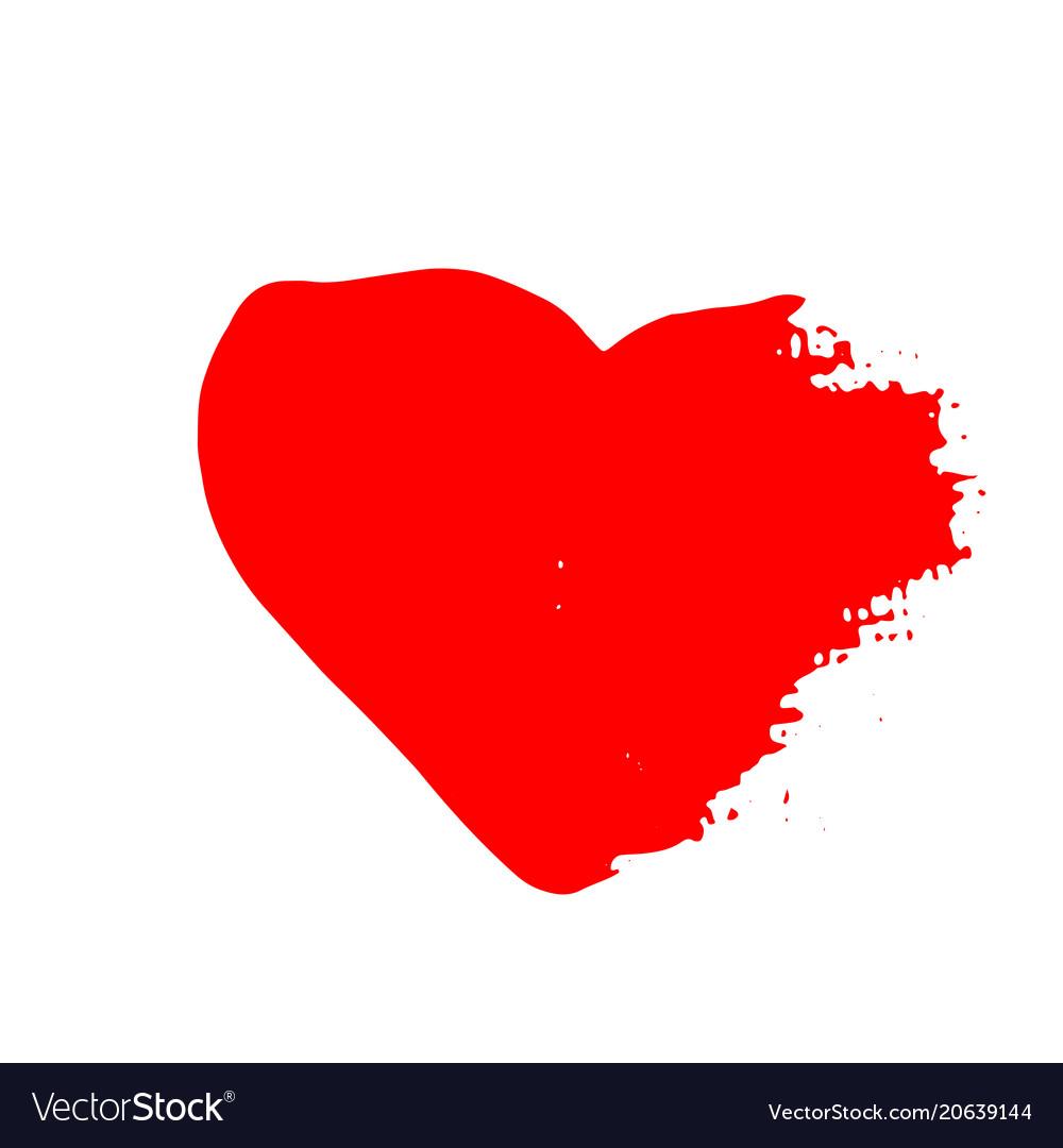 Grunge red heart valentine day print