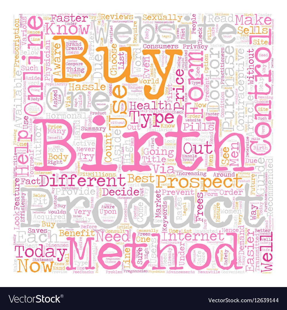 how to buy birth control online text background vector image - Buy Birth Control Online