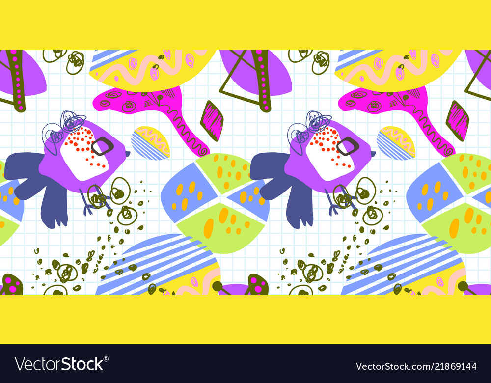 Modern trendy seamless pattern abstract bright
